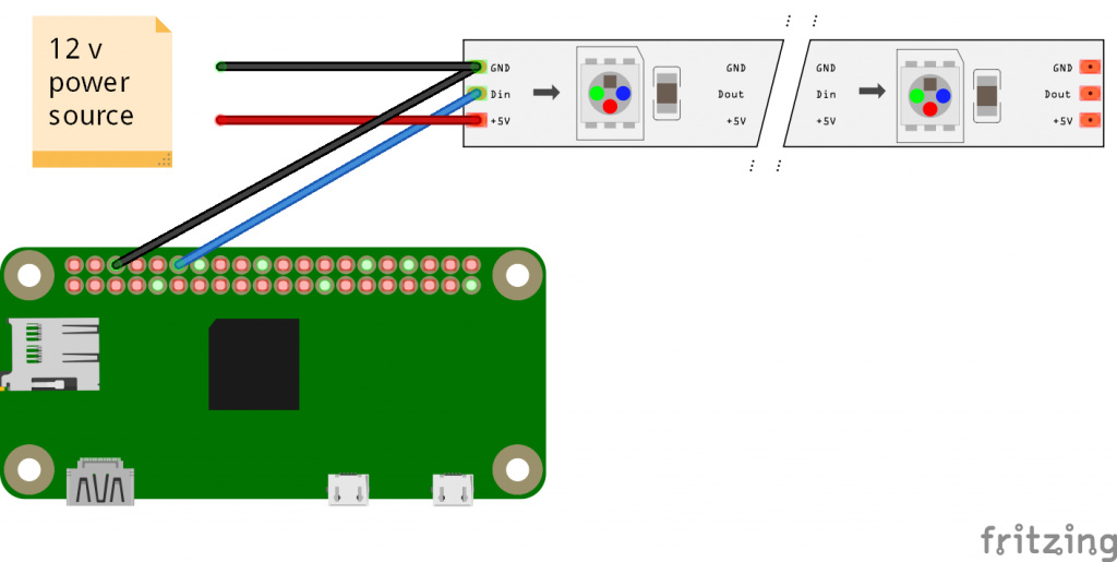 Wire and control ledstrips with the esp8266 – Createweb
